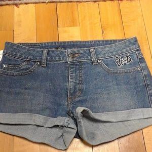 Harley davidson denim shorts sz6